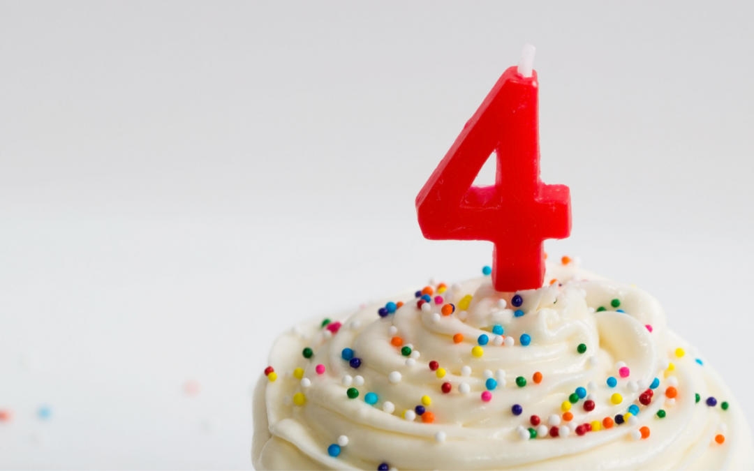 Happy 4th Birthday! 6(ish) lessons I've learned along the way